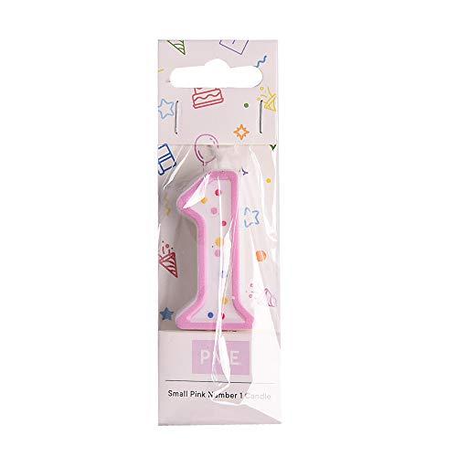 PME CA091 Kerze, Rosa, klein, Kunststoff, Pink,...