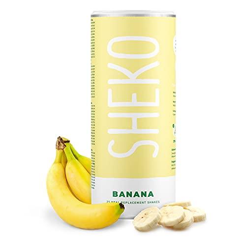 SHEKO Banane Mahlzeitersatz Shake   25 cremige...