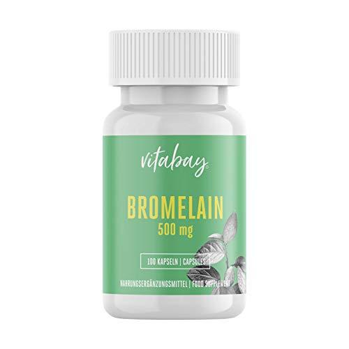 Vitabay Bromelain 500 mg • 100 vegane Kapseln...