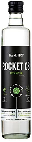 BRAINEFFECT Rocket Veganes MCT Öl C8 - Octane MCT...
