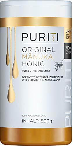 PURITI Manuka-Honig MGO 550+ 500g aus Neuseeland -...