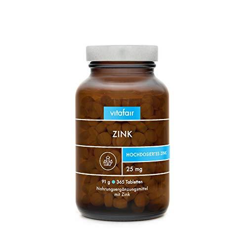 Zink - 25mg pro Tagesdosis - Unterstützt dein...
