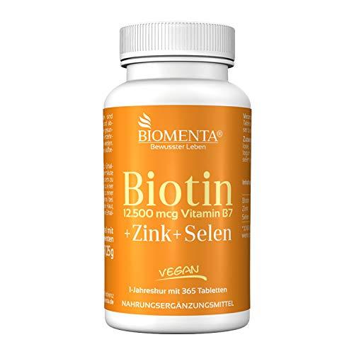 BIOMENTA Biotin hochdosiert mit 12.500 mcg + Zink...