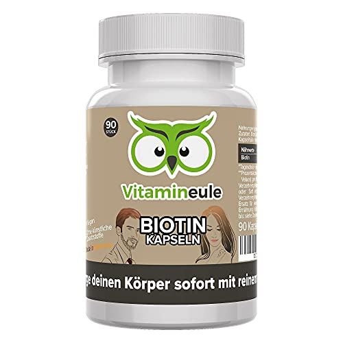 Biotin Kapseln 10000 mcg hochdosiert - Vitamin B7...