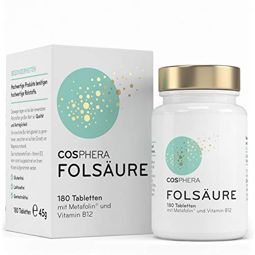 Folsäure Tabletten - Hochdosiert mit 800 μg...