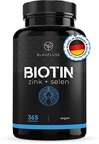 Biotin hochdosiert 10'000mcg Zink Selen - Haut...