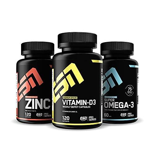 ESN Vitamin D3 + Omega 3 (1000mg) + Zink (25mg) im...