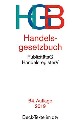 Handelsgesetzbuch HGB: mit Seehandelsrecht, mit...