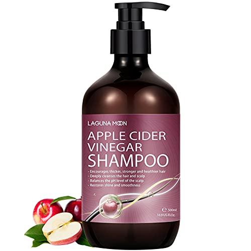 Lagunamoon Apfelessig Shampoo, Biotin & Rizinusöl...