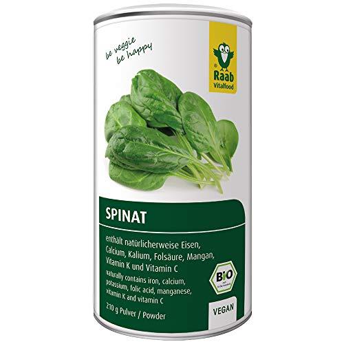 Raab Vitalfood Bio Spinat-Pulver, 100 % Spinat aus...