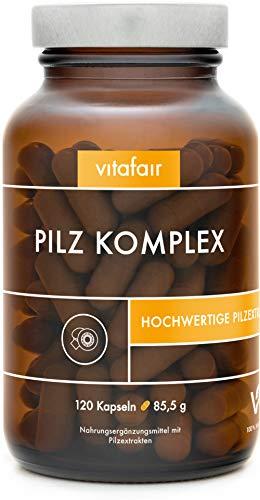 VITAFAIR Pilz Komplex - 7 Pilzextrakten - Vegan,...