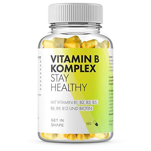 Vitamin B Komplex - 180 Vegane Kapseln mit Vitamin...