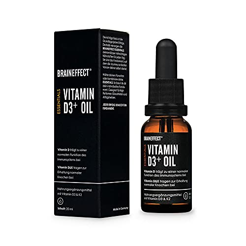 BRAINEFFECT Vitamin D3 K2 Tropfen in MCT-Öl –...
