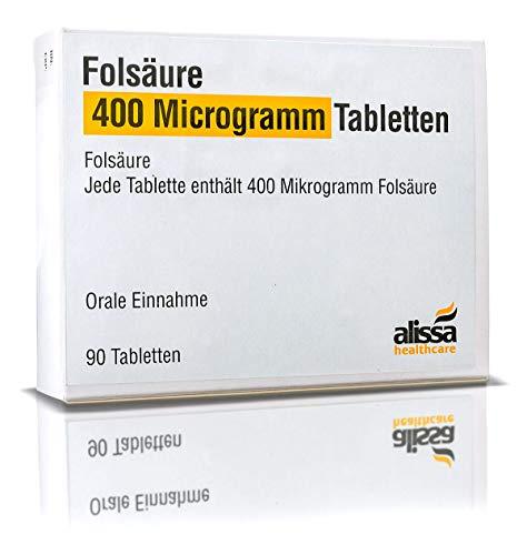 Folsäure Tabletten 90 Stück für Kinderwunsch...