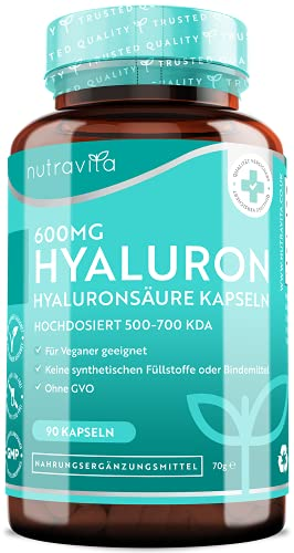600mg Hyaluronsäure Kapseln – Hochdosiert mit...