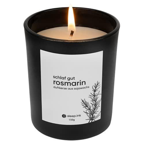 sleep.ink Duftkerze Rosmarin | Hochwertiges Aroma...