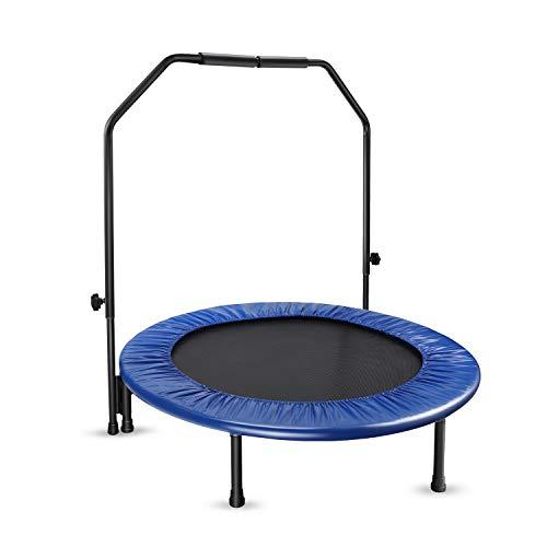 Fitness Trampolin, leise Stahlrohrrahmen mit...