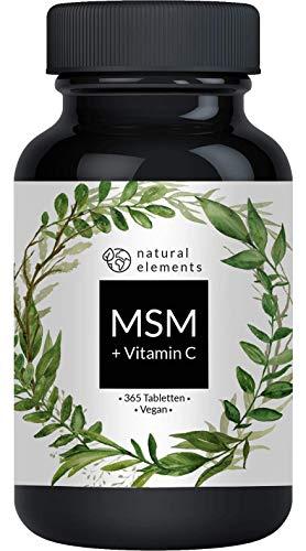 MSM 2000mg mit natürlichem Vitamin C - 365...