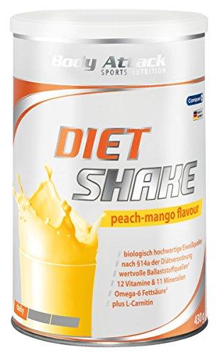 Body Attack Diät Shake 430g - Diet Shake Peach...
