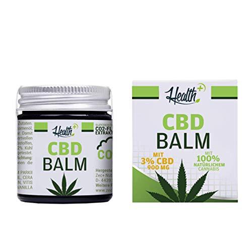 HEALTH+ CBD BALM mit 3% CBD - 30 ml, Hanf-Salbe...