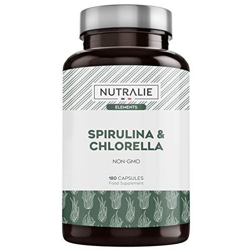 Spirulina & Chlorella 1800mg | Entgiftung,...