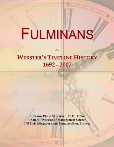 Fulminans: Webster's Timeline History, 1692 - 2007