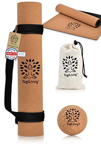 Yogiliving® Yogamatte XL | 100% natürliche...