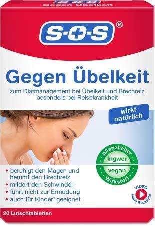 SOS Gegen Übelkeit, Lutschtabletten zur Hemmung...