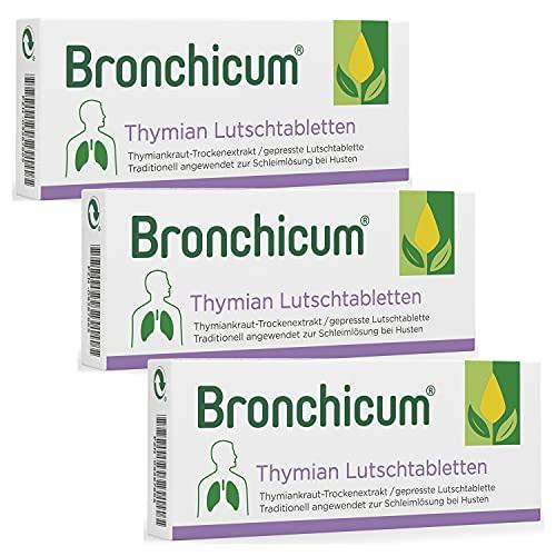 Bronchicum Thymian Lutschtabletten | Sparset mit 3...