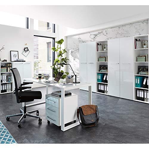 Lomadox Komplett Büro-Praxiseinrichtung in weiß...