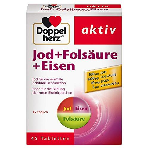 Doppelherz Jod + Folsäure + Eisen – Mit Jod zur...