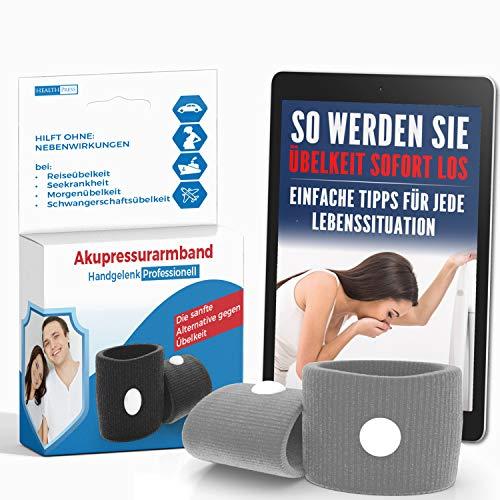 Akupressur Armband gegen Übelkeit - Ideal für...
