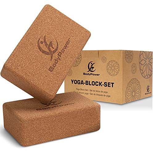 WOMA Yoga Block Kork 2er Set - Yogablock Kork aus...