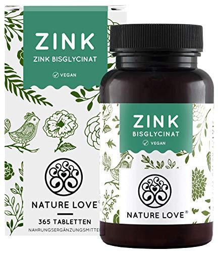 NATURE LOVE® Zink - 365 Tabletten (1 Jahr) -...