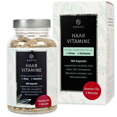 ASOYU Haar-Vitamine - 180 vegane Kapseln (Haarkur...