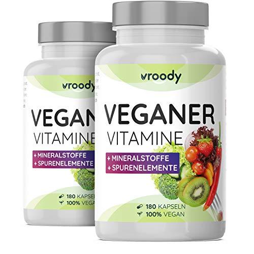 2x VROODY Vitamine für Veganer und Vegetarier -...