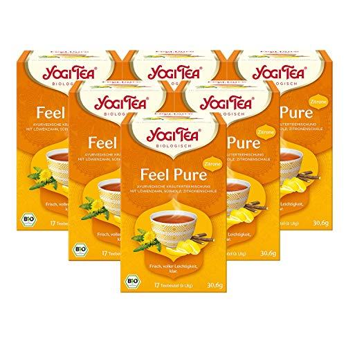 Yogi Tea 6x Feel Pure mit Zitrone Bio Yogi Tee I...