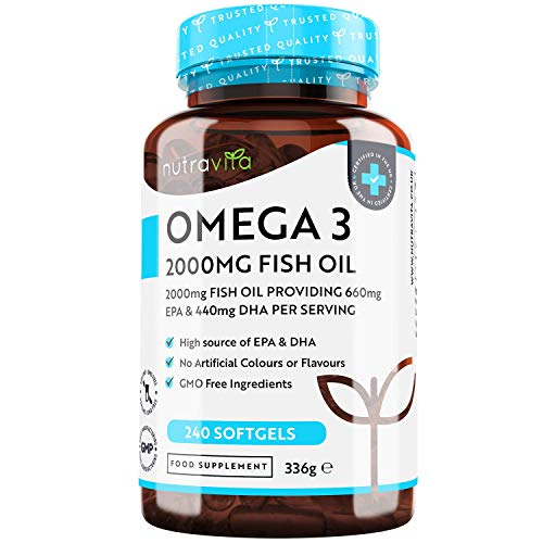 Omega 3 2000 mg – HOCHDOSIERT mit 660 mg EPA &...