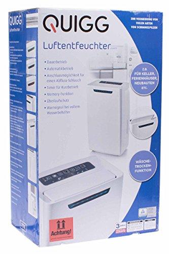 Quigg® Luftentfeuchter Dauerbetrieb 5,5L...