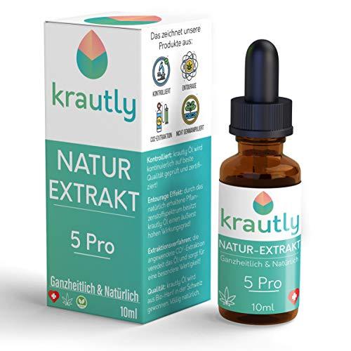 krautly Natürliche Premium Bio Öl Tropfen 5 Pro...