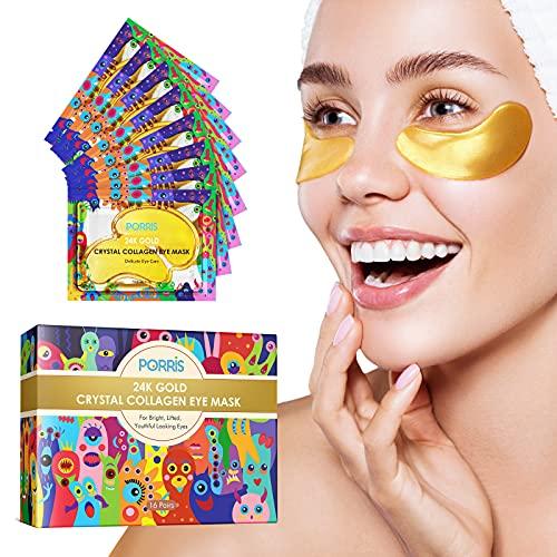 24K Gold Augenmaske unter Augenpflastern,...
